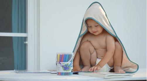 Kinder badcape - EFROSINI