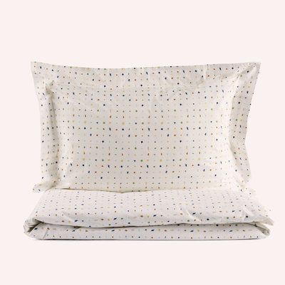 100% organic bed linen (+ 1 pillow case) - white with colours HARA KIDS