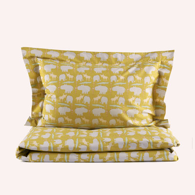 100% organic bed linen (+ 1 pillowcase) - mustard yellow HARA KIDS